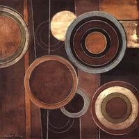Abstract Circles II Framed Print