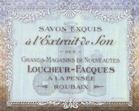 French Soap Label II Framed Print