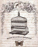 French Birdcage II - mini Fine Art Print