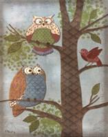 Fantasy Owls Vertical II Fine Art Print