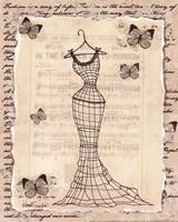 Wire Dress I - mini Fine Art Print