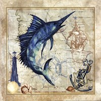 Nautical Swordfish Fine Art Print