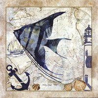 Nautical Fish II Framed Print