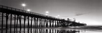 Pier Night Panorama II - mini Fine Art Print