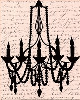 Chandelier Calligraphy I - mini Fine Art Print