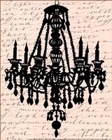 Chandelier Calligraphy II - mini Fine Art Print