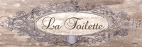 La Toilette Sign - mini Fine Art Print
