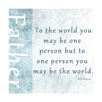 To One Person Framed Print