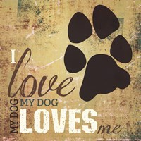 I Love My Dog Framed Print