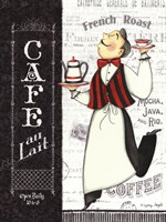 Cafe Waiter Fine Art Print