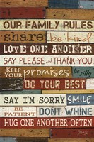 Our Family Rules I Framed Print
