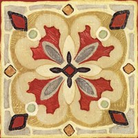 Bohemian Rooster Tile Square III Fine Art Print