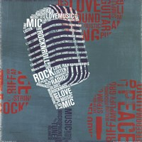 Type Mic Square Fine Art Print