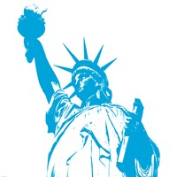 Liberty in Blue Fine Art Print