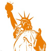 Liberty in Orange Fine Art Print