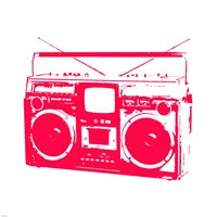 Red Boom Box Fine Art Print