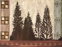 Pine Trees Lodge I Fine Art Print