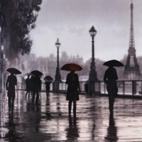 Paris Red Umbrella Fine Art Print