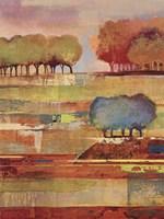 Bright Landscape II Framed Print