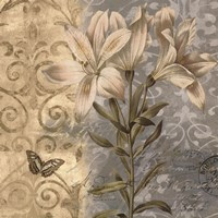 Flowers Butterfly II Fine Art Print