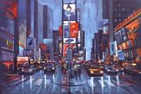 Times Square Blue Fine Art Print
