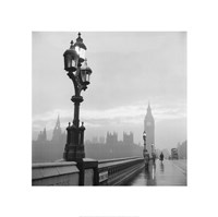 Westminster Bridge and Houses of Parliament, 1962 Fine Art Print