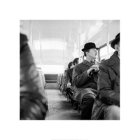 A City Gent On The Top Deck Of A Bus Fine Art Print