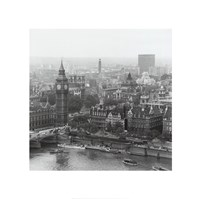City Of Westminster From The South Bank Of The Thames, 1963 Fine Art Print