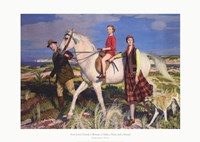 Four Loves I Found, a Woman, a Child, a Horse and a Hound Fine Art Print