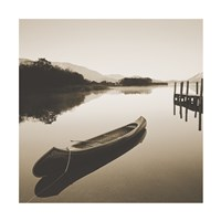 Lake Shore I - Sepia Fine Art Print