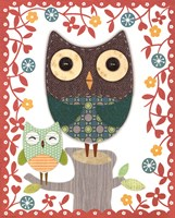 Folksy Friends II Fine Art Print