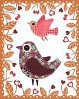 Folksy Friends IV Fine Art Print