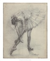 Antique Ballerina Study II Framed Print
