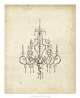 Classical Chandelier III Fine Art Print