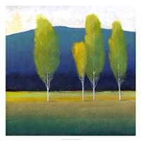 Glowing Trees I Framed Print