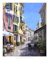Sunny Street in Portofino Fine Art Print
