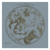 Northern Circumpolar Map Fine Art Print