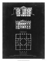 Graphic Building & Plan V Fine Art Print