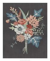 Coral Bouquet I Framed Print