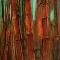 Sunset Bamboo II Fine Art Print