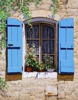 Blue Shutters Fine Art Print