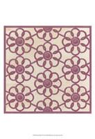 Floral Trellis IV Framed Print