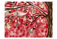 Red Pear Tree Fine Art Print