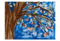 Blue Apple Tree Fine Art Print