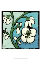 Teal Batik Botanical II Fine Art Print