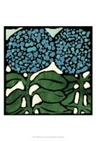 Teal Batik Botanical V Fine Art Print