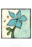 Teal Batik Botanical VI Fine Art Print