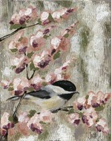 Cherry Blossom Bird I Fine Art Print