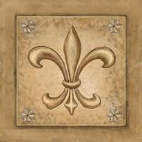 Fleur de Lis - Gold Fine Art Print
