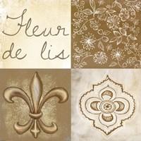 Fleur de Lis Square Framed Print